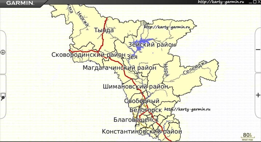 amurskajaobl big map