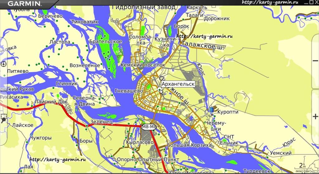 arhangelsk map big